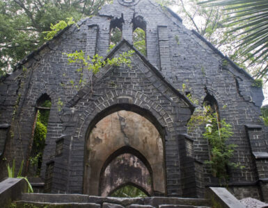 Abandoned village church in India